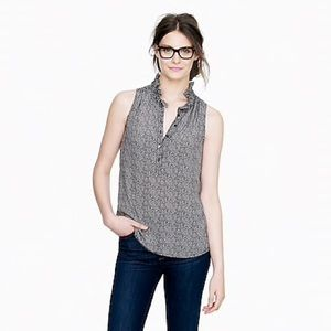 J.Crew Herringbone Nicky Silk Sleeveless Blouse